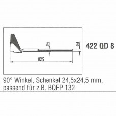 0422QD8. Auslötspitzen-Satz QD8, für Entlöt-Pincette 40/TC 40 und Chip tool Ersa