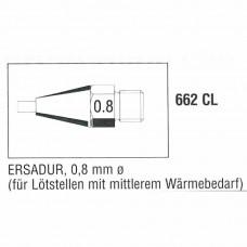 0662CL. Entlötspitze für mittleren Wärmebedarf, 0,8mm Ersa