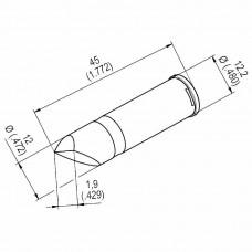 0242CDLF109A. DUR Lötspitze für i-Tool HighPower, gerade, meißelförmig, 10,9 mm asymmetrisch Ersa